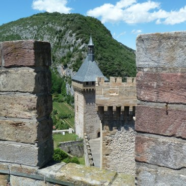 The view from one tower to another in the Chateau de Foix.