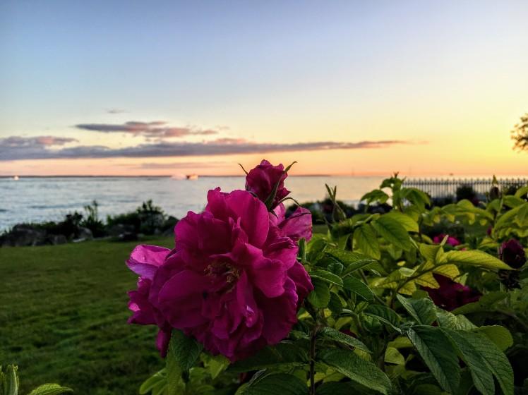Sunset over Lake Huron on Mackinac Island, Michigan