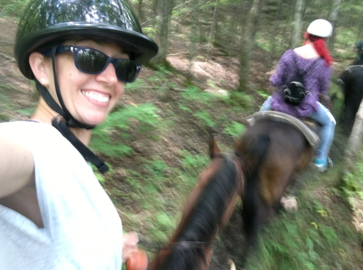 Trail ride through the forest on Mackinac Island