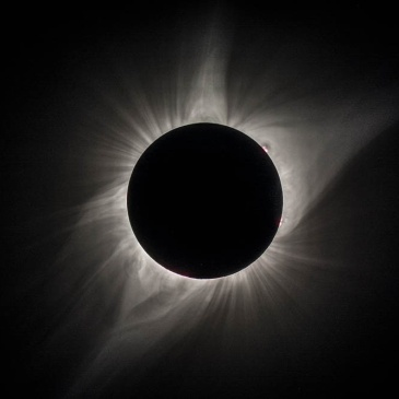 The total solar eclipse from Guernsey, Wyoming on August 21, 2017. Photo taken by Richard Ernst.