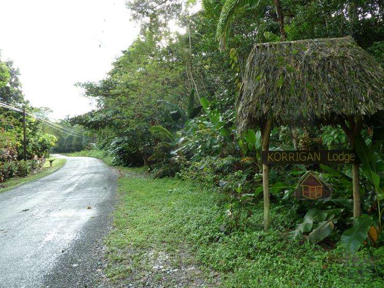 Korrigan Lodge Entrance in Punta Uva, Costa Rica