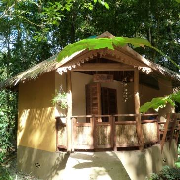 A cabin at Korrigan Lodge