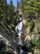 Waterfalls at Lake Ypsilon in Rocky Mountain National Park