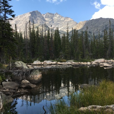 Mount Ypsilon reflecting in Chipmunk Lake