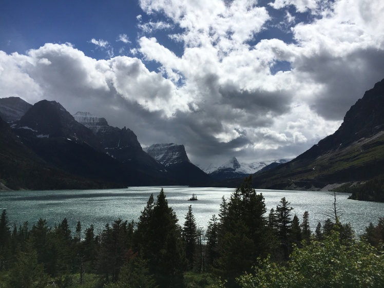 Wild Goose Island on St. Mary's Lake in Glacier National Park. This was taken from a roadside pulloff along the Going-to-the-Sun road, so anyone can enjoy this view - no hike required!