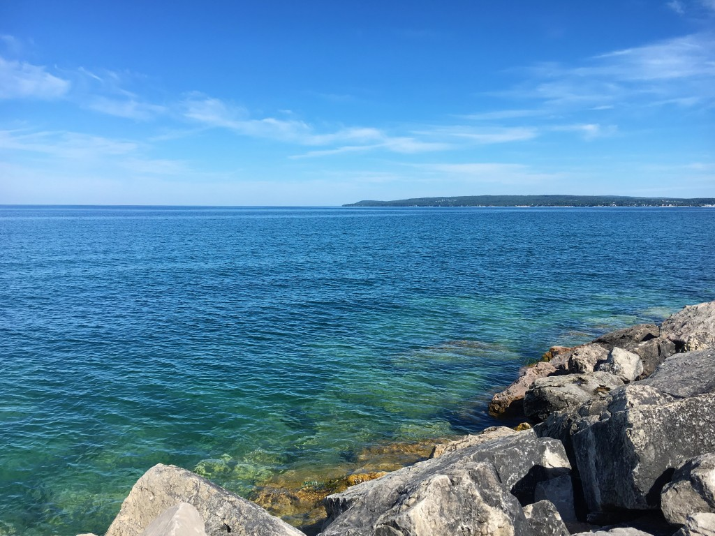 Seriously - look at this gorgeous water! This is Lake Michigan, from the pier in Petoskey.