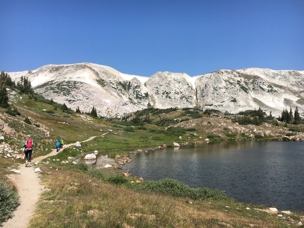 Lewis Lake trail in Medicine Bow National Forest, Wyoming.
